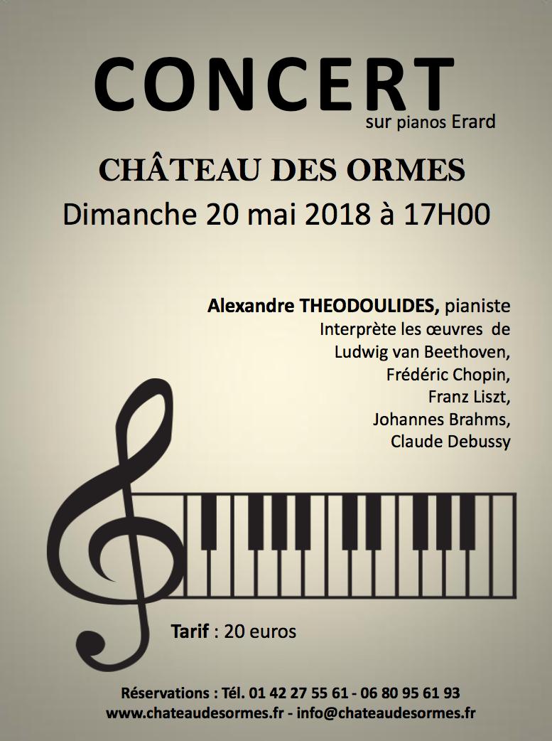 Concert sur pianos Erard / Dimanche 20 mai 2018