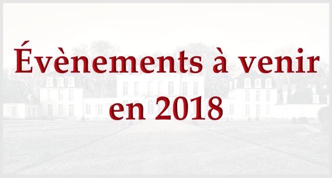 Les évènements 2018