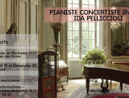 Concert sur Piano par Madame Ida PELLICCIOLI 19 & 20 septembre 2020 Journées du Patrimoine
